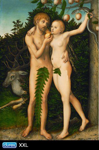 Durex XXL patrocina una escena de Adan y Eva… #ads