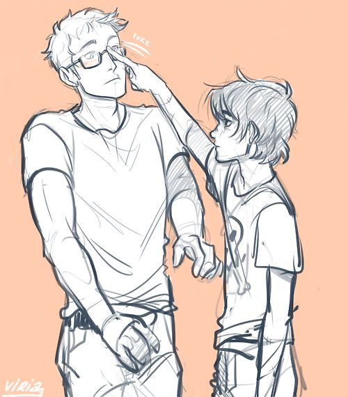 Jason Grace & Nico di Angelo heroes of olympus blood of olympus - Art by Viria #boospoilers