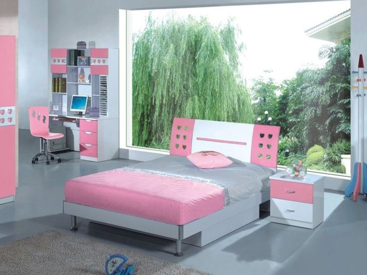 Bedroom Designs, The Lavish Pink Combines With Neutral Grey With A Fresh  View In A Cute Pink Girls Bedroom Idea: Cute Teenage Girl Bedroom I. Idea