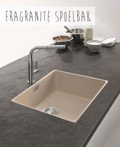 Spoelbakken geven keuken kleur: Fragranite