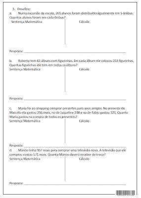 SOS PROFESSOR-ATIVIDADES: Revisão de matemática