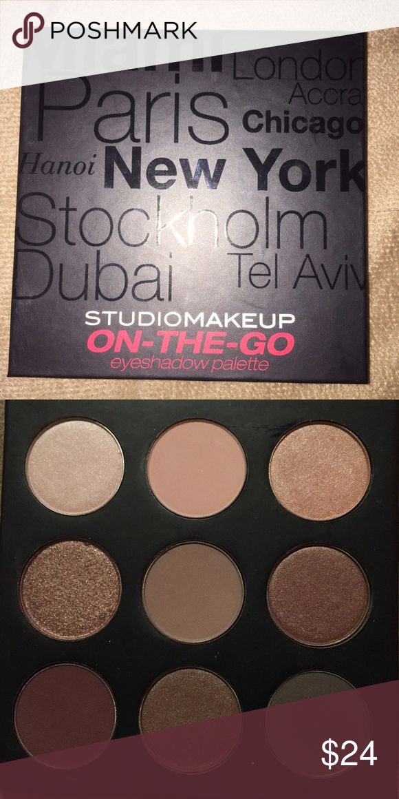 Studio makeup on the go palette Cool tone palette was used once. This came on a monthly makeup box subscription and i dont use it. Its a very good quality palette. Shadows are pigmented and blend Studio Makeup Makeup Eyeshadow