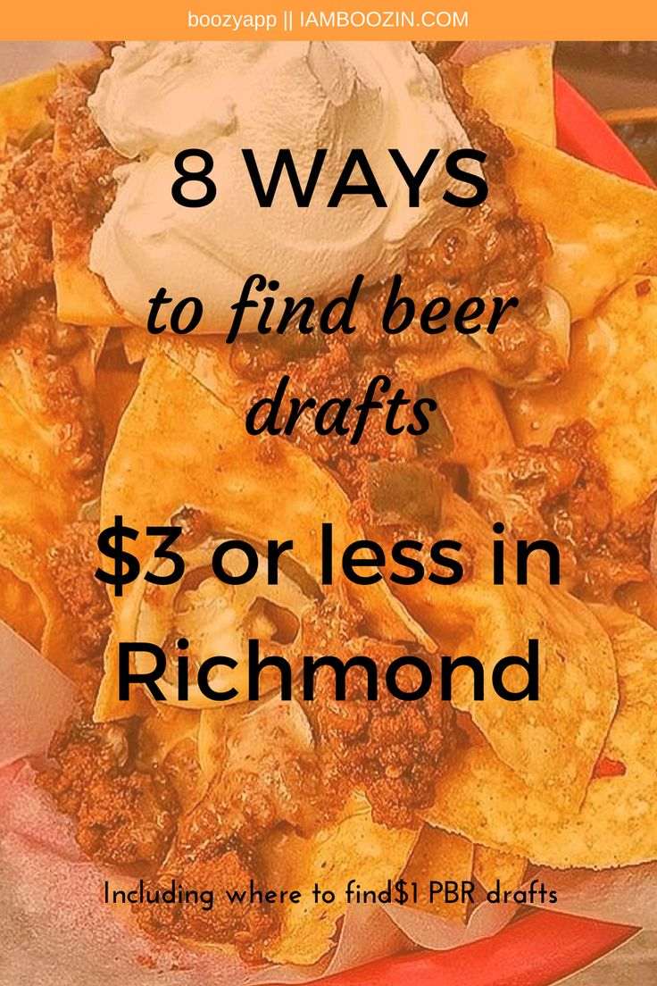 Beer Richmond | 8 To Find Beer Drafts $3 Or Less In Richmond including where to find $1 PBR Drafts...Click through for more!