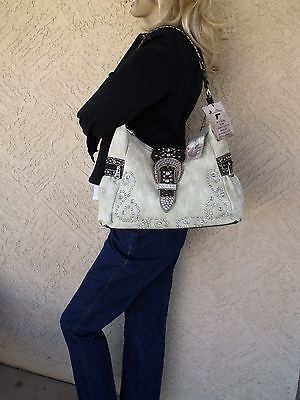 Montana West Concealed Carry Purse Beige CCW Handgun Holster Handbag
