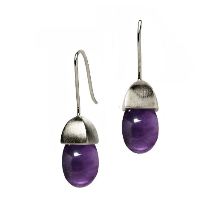 Acorn Earrings with Amethyst by Fei Liu #jewellery #feiliu #necklace #luxury #earrings