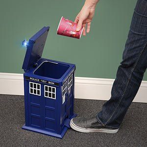 TARDIS Trash Can, bigger on the inside