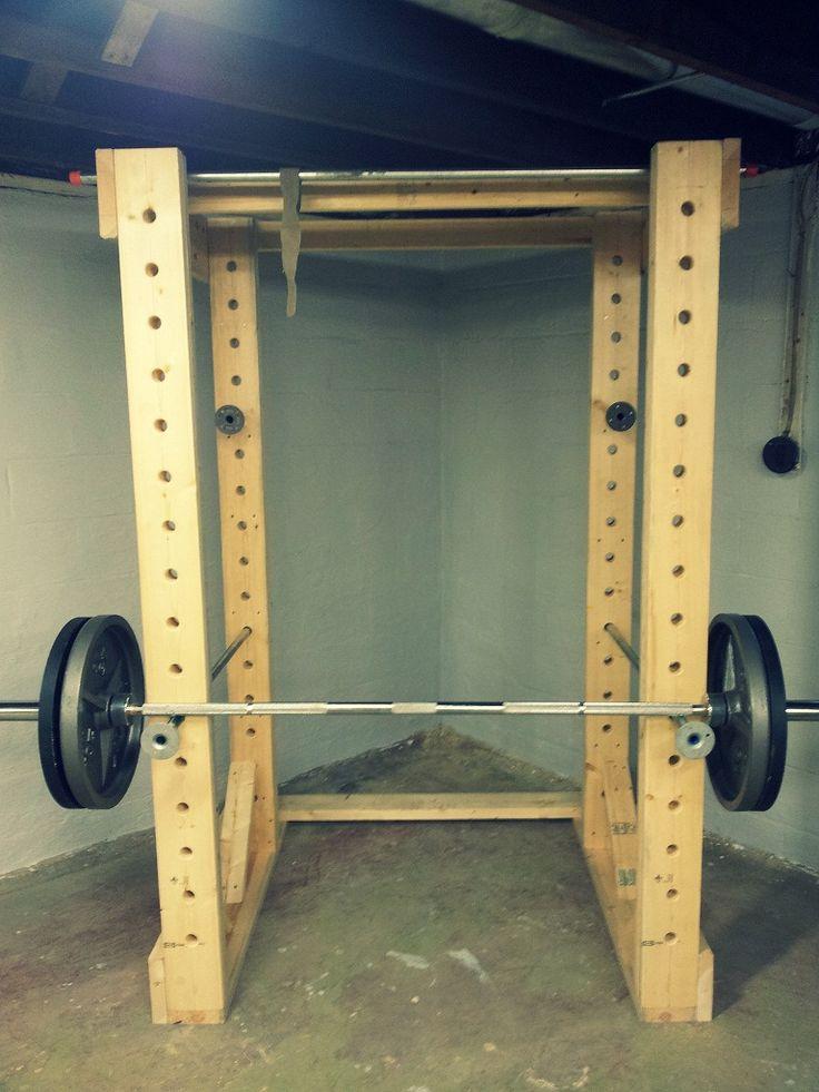 Diy Squat Rack Google Search Diy Gym Pinterest