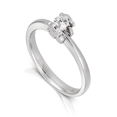 Perfect kt white gold TOUS Sweet Diamonds solitaire ring with ct diamond Diamond mm