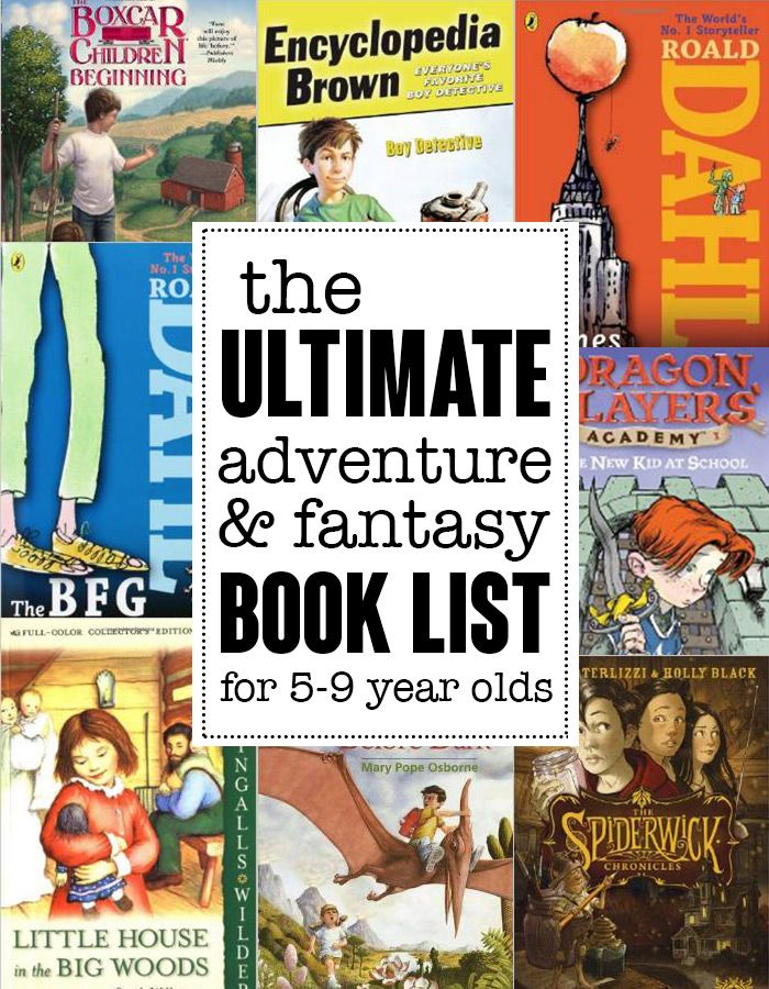 The ultimate adventure and fantasy reading list for children ages 5-9 yeas. Save this!! Found on andreasnotebook.com