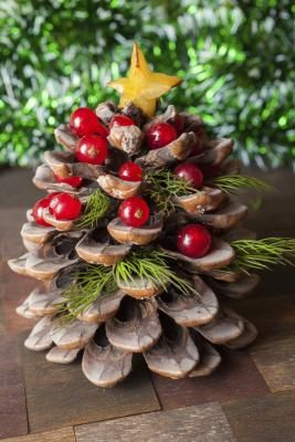 17 mejores ideas sobre centros de mesa de rboles de pi a en pinterest fiesta en la playa - Adornos navidenos con pinas ...