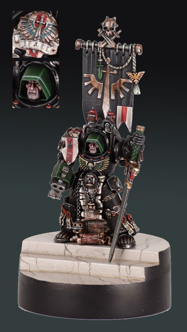 CoolMiniOrNot - Deathwing terminator chaplain - better pic - by fildunn