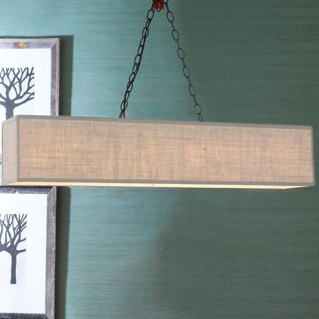 Image of: Large Rectangle Lamp Shade