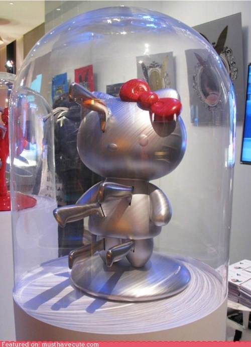 This would be perfect in my kitchen with red accents! I want! cute kawaii stuff - Hello Kitty Knife Block