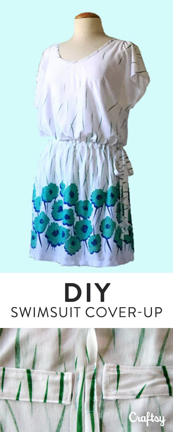 It's swimsuit season! Why buy a cover-up from the store when you can make your own and customize it? Make your own with our DIY cover-up sewing tutorial.