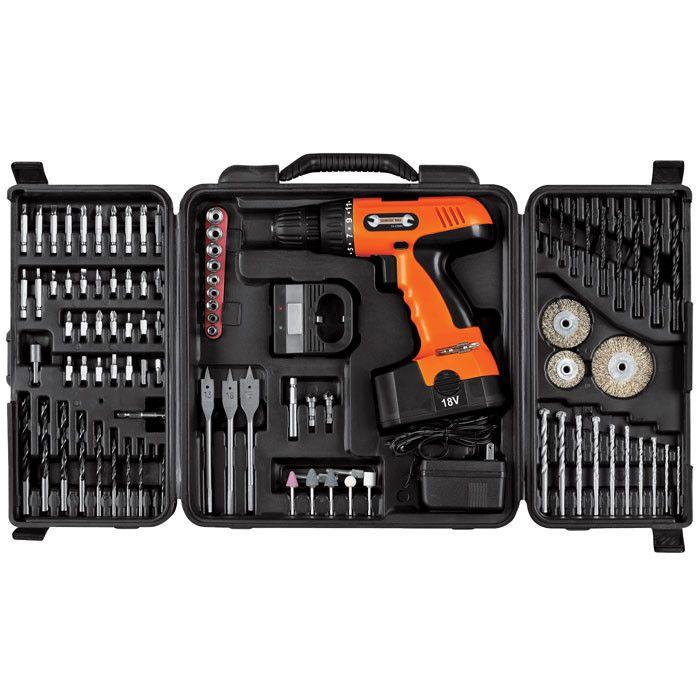 Trademark Commerce 75-CD91 Trademark Tools 18V Cordless Drill Set - 89 pcs