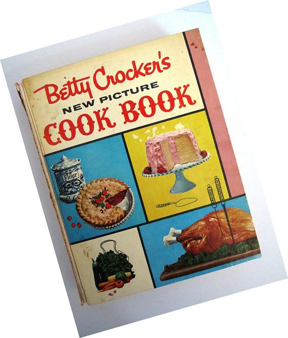 Vintage 1950 betty crocker's picture cookbook 1st edition 7th.