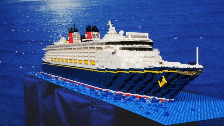 Disney cruise ship lego.