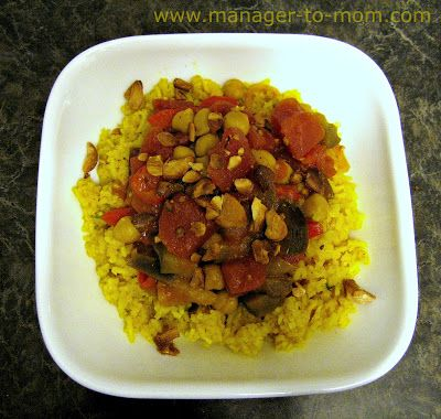 "Manager to Mom: ""Indian Inspiration Week"" Recipe 2: Lemon Rice and Eggplant-Chick Pea Curry"