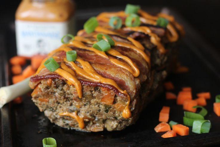 Bacon Chorizo Chipotle Smothered Meatloaf #PaleOMG