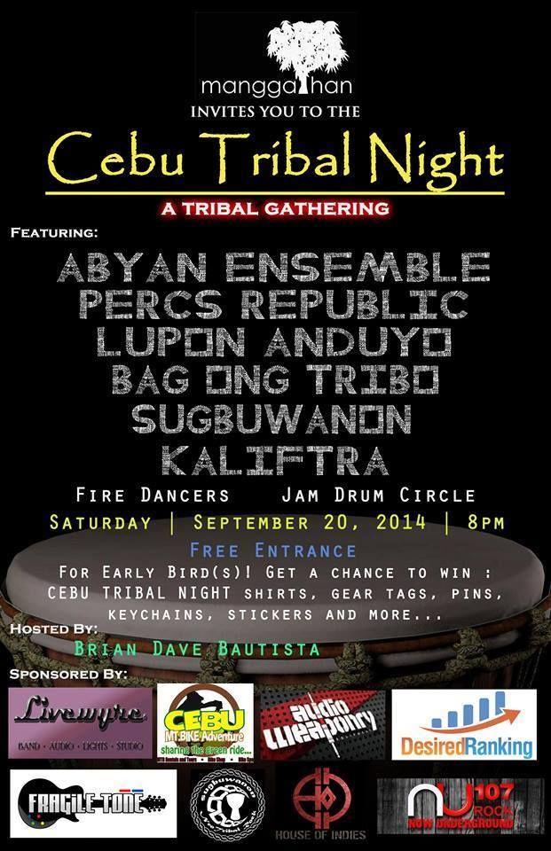 Cebu tribal night a tribal gathering september 202014 at 8pm entrance