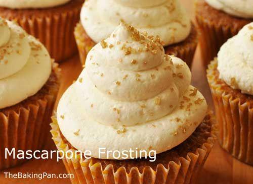 Mascarpone Frosting Recipe | TheBakingPan.com