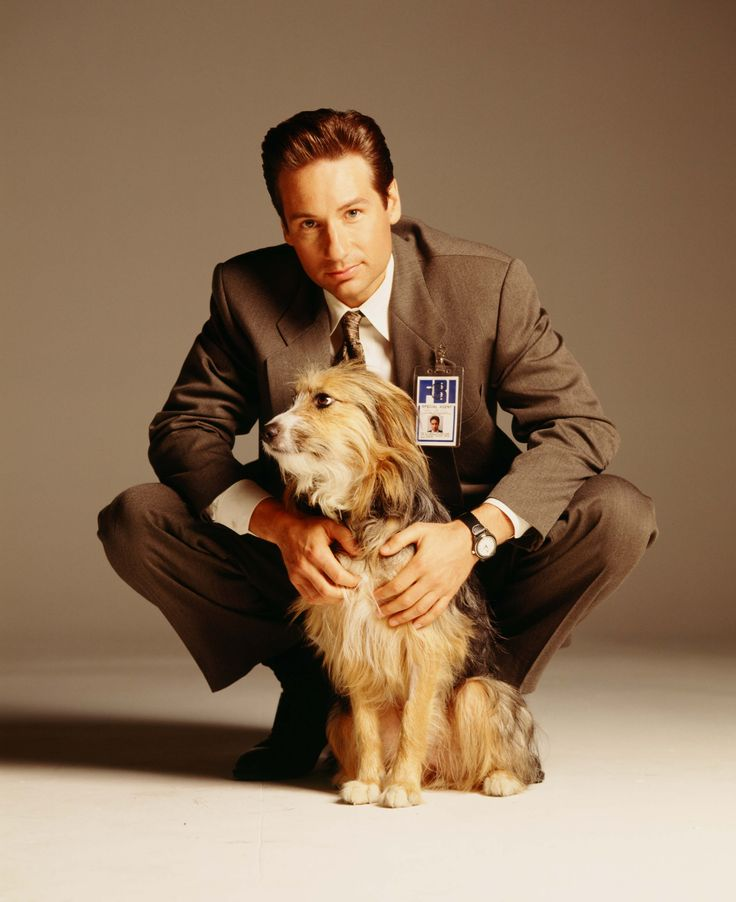 David Duchovny with his dog Blue