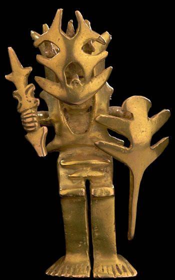 Pendant Gold 100 b.C. - A.D. 1000 Restrepo, Valle del Cauca 7,1 x 3,2 cm
