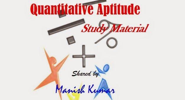 Quantitative Aptitude Study Material Free Pdf Download | Gr8AmbitionZ