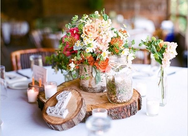 27 best rustic wedding decorations images on pinterest dcor rustic wedding table decorations junglespirit Images