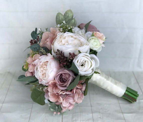 Ramo de novia Dusty Rose Ramo de novia Blush Wedding