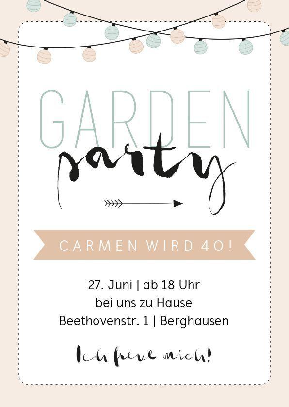 Einladung Zum Geburtstag Gartenparty Pastell Geburtstag Ideen