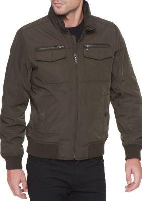Tommy Hilfiger Men's Performance Bomber Jacket - Army Green - Xl
