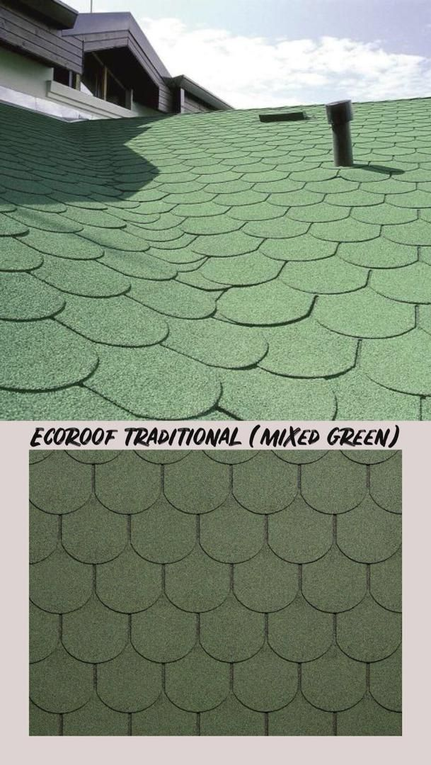 One Of Our Products Ecoroof Traditional Traditional Is The Shingle With High Flexibility Characteristics That Make Cool Roof Roofing Specialists Traditional