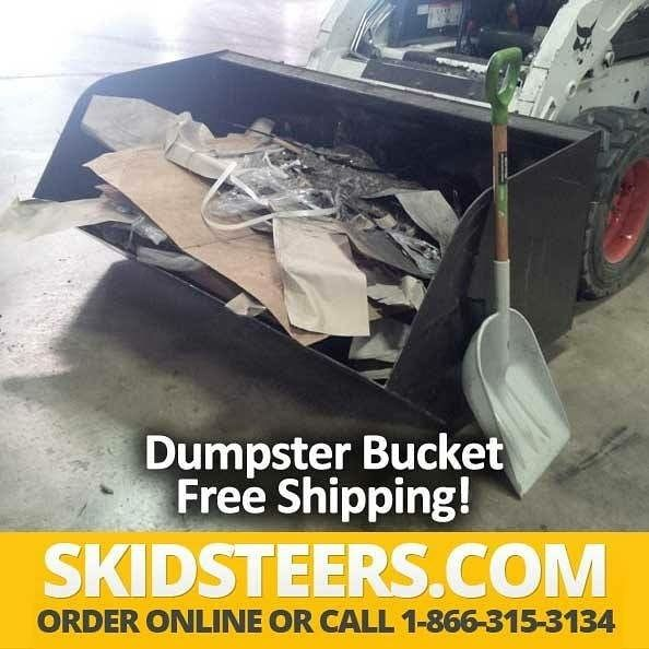 SkidSteers.com Dumpster Bucket - See pricing and details at https://www.skidsteers.com/dumpster-bucket.html or call 866-315-3134.  #bobcat #caterpillar #heavyequipment #dirtwork #earthmoving #equipment #heavyequipmentlife #dirtmover #heavymachinery #johndeere #kubota #dirtmoving #earthmover #skidsteer #skidloader #dirtlife #skidsteers_daily #construction #landscaping #excavator #farming #farmer #dairyfarming #treeremoval #masonry #landscapedesign #landscapearchitecture #mason #landscaper…