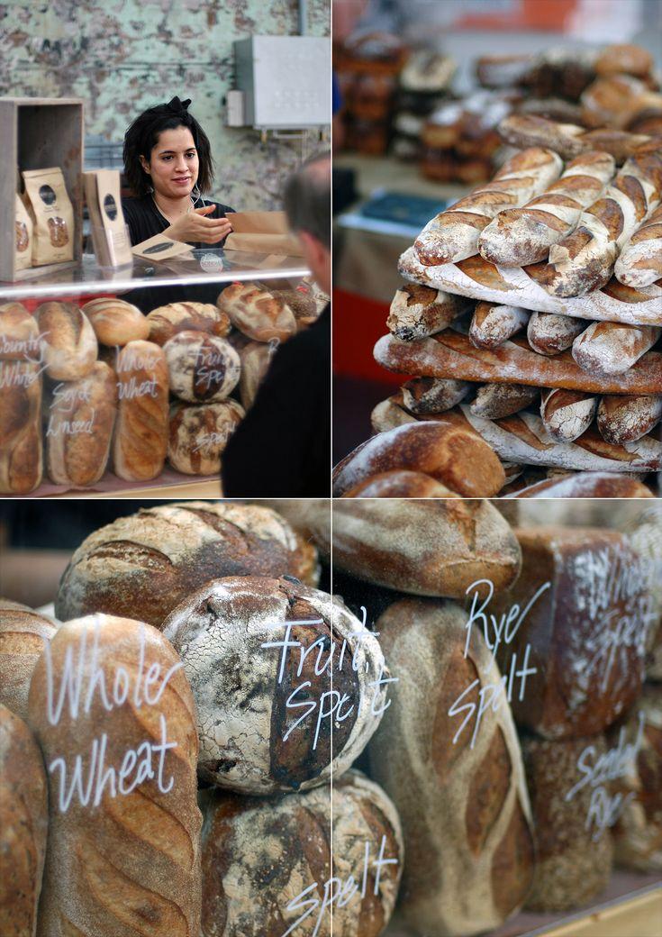 Artisanal breads at Eveleigh Farmer's Market, Sydney   heneedsfood.com