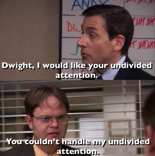 You can't handle it: Couldn T Handles, Stuff, Humor The Offices, Giggles, Funny, Dwight Schrute, Movie, Smile, Undivid Attention