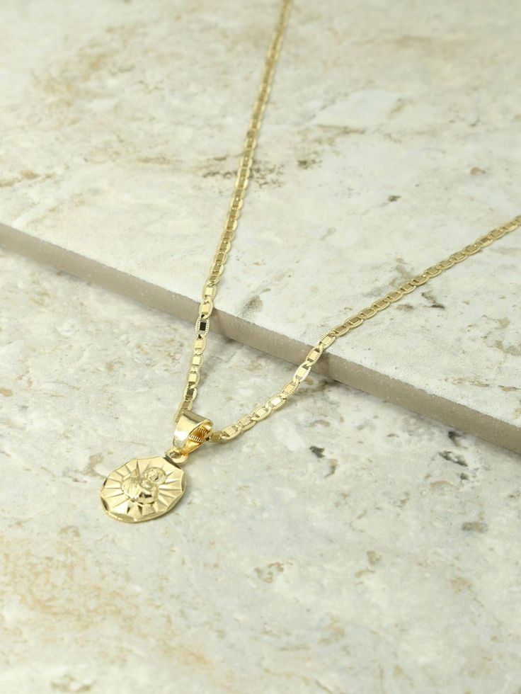 The Son Of Man Gold Charm Necklace | Vanessa Mooney