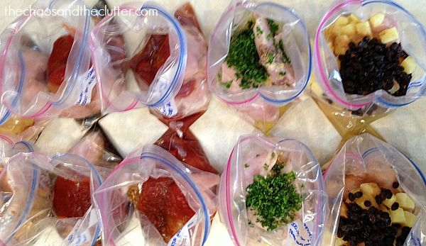 Chicken dump recipes are fast to make and perfect for freezing. These 5 recipes can be doubled and in one hour, you will have ten meals!