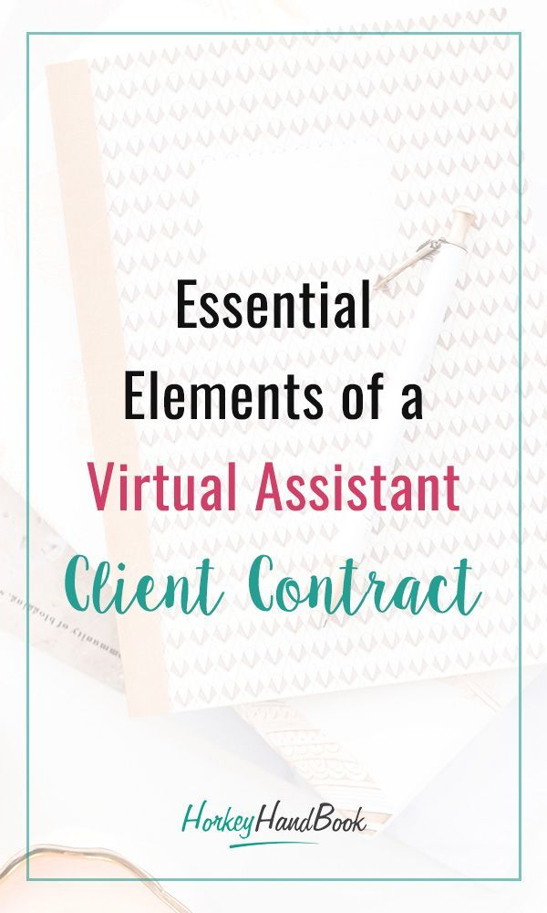 3 Elements You Must Include In Your Va Contract Virtual Assistant Contract Template Virtual Assistant Jobs