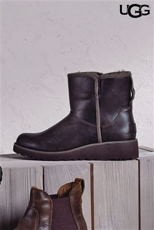 Buy UGG® Brown Stout Leather Kristin Boot from the Next UK online shop