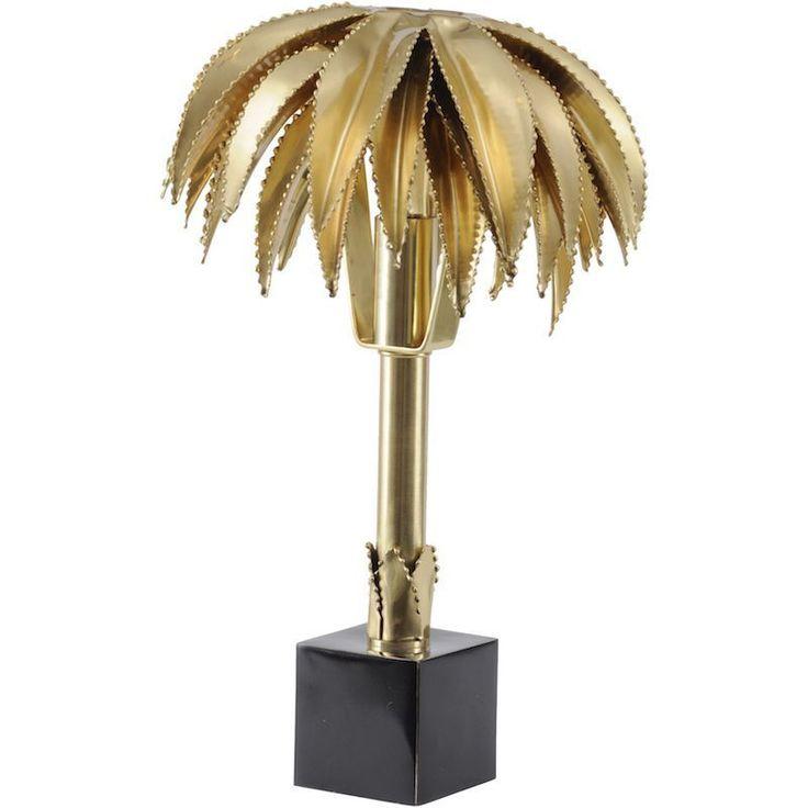 Polished Brass Palm Tree Small Lamp26 x 26 x 30 WxDxH