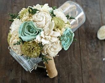 sea foam wedding bouquet - Google Search