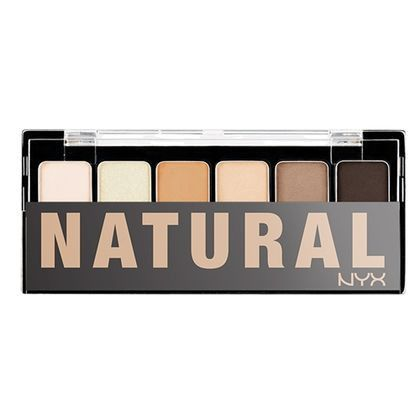 - NYX Professional Makeup The Natural Eyeshadow Palette Descrption Go au natural…or dramatic with the Natural Shadow Palette. Designed to work beautifully with all skin tones this 6-shadow collection