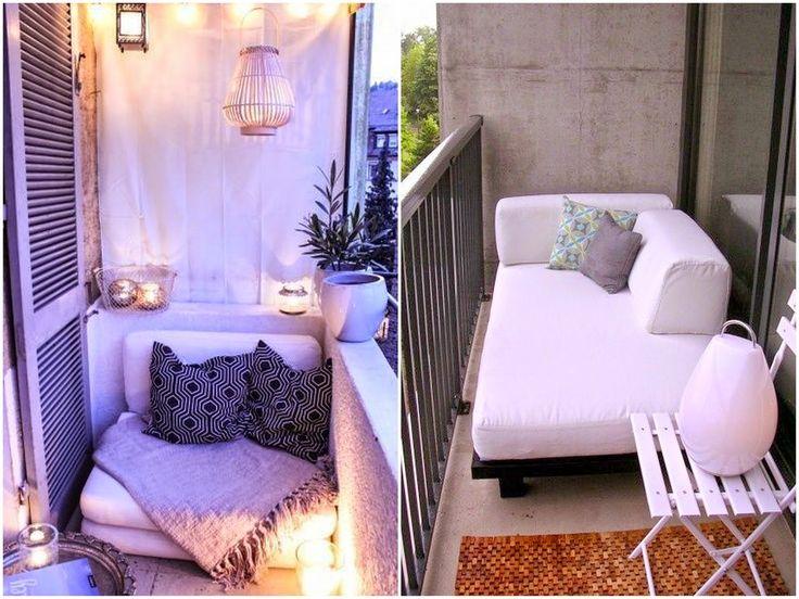 moje domowe inspiracje: Mały balkon - inspiracje