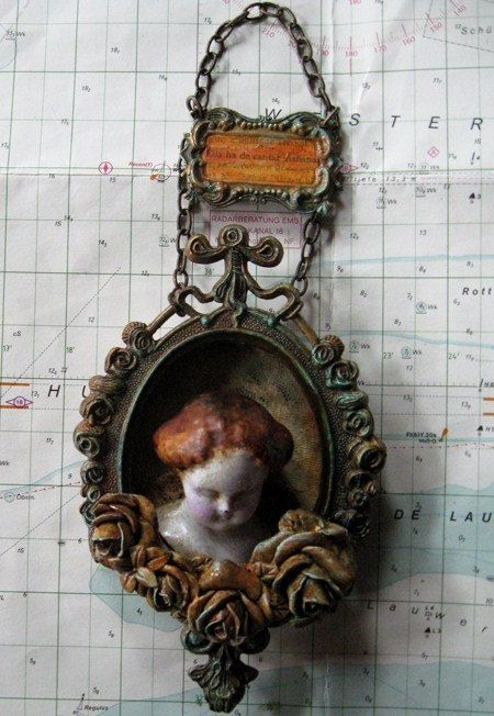 porcelain doll shrine wall hanging by in the willows on etsy