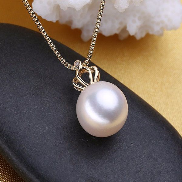 18K Gold Pearl Pendant Necklace