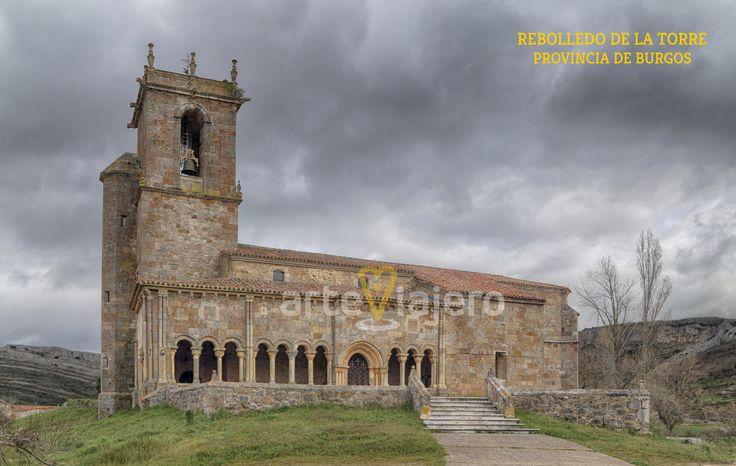 Rebolledo de la Torre, provincia de Burgos. Iglesia de San Julián y Santa Basilisa #románico