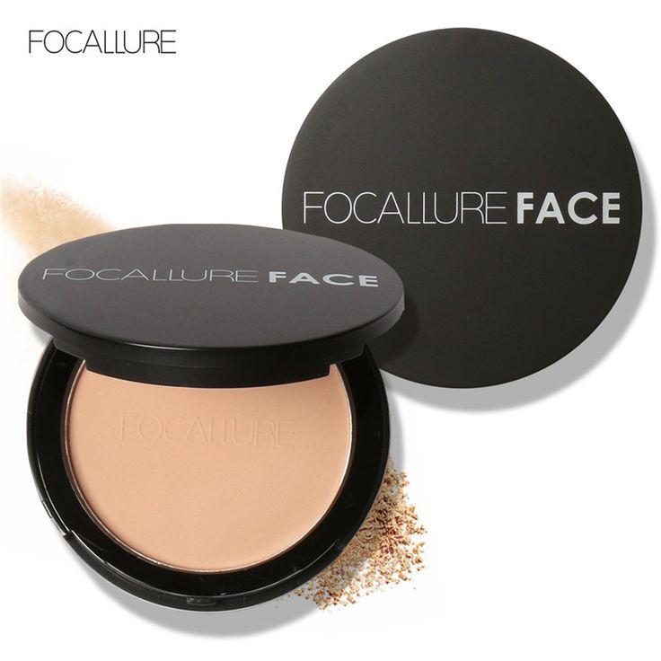Focallure 3 warna make up wajah powder bronzer highlighter shimmer mencerahkan wajah bedak padat palette kontur makeup kosmetik