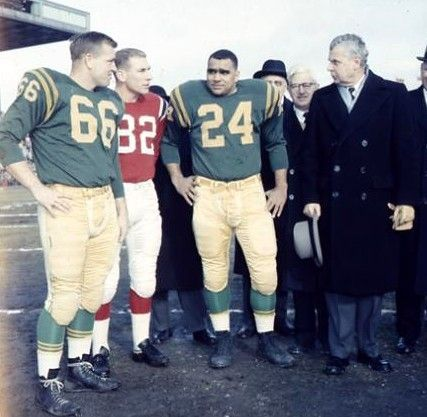 1960 Grey Cup - Roger Nelson, Russ Jackson, Johnny Bright & PM John Diefenbaker