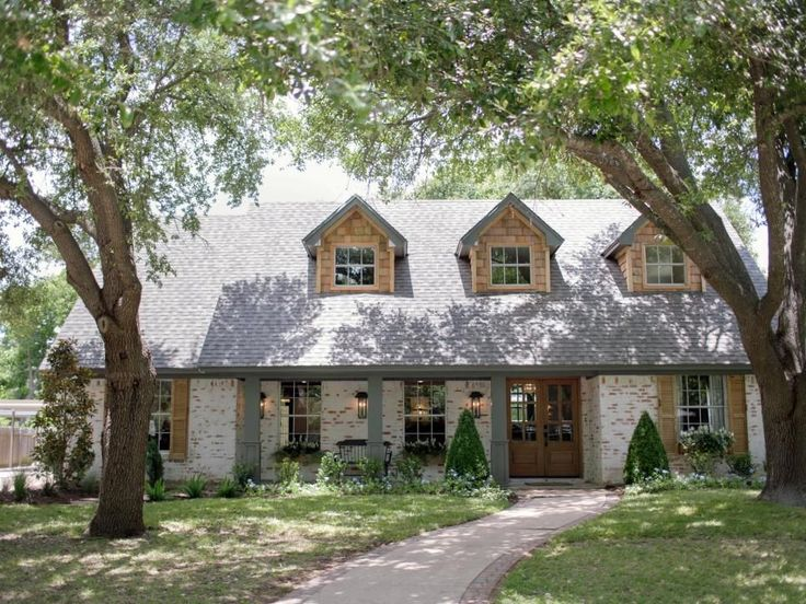 Chip and Joanna renovated an ordinary looking brick house in the Mountainview neighborhood of Waco to create this beautiful first home for a young couple moving back to Texas after a stint in Tennessee.